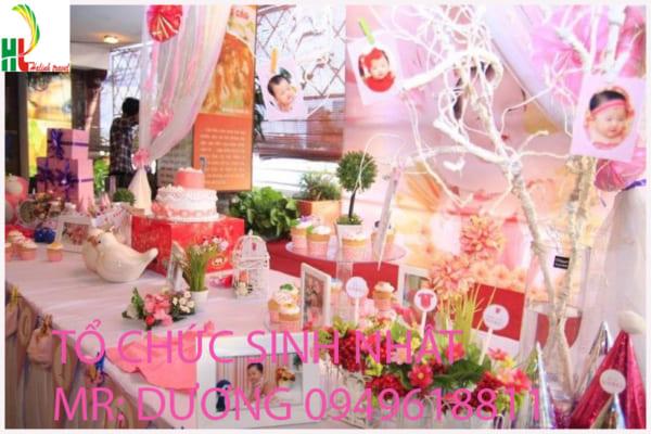 tổ chức sinh nhật tại Thái Nguyên